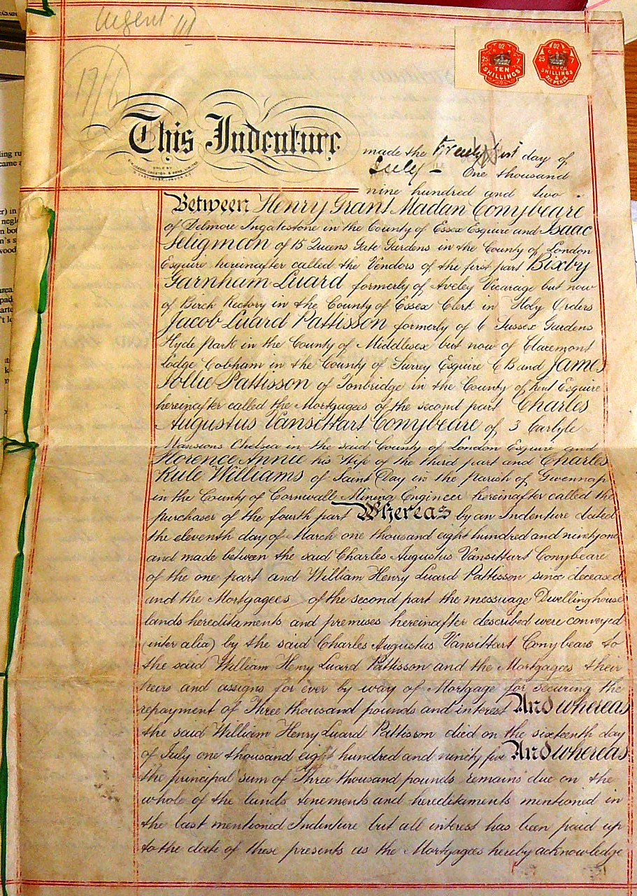 The 1902 Indenture